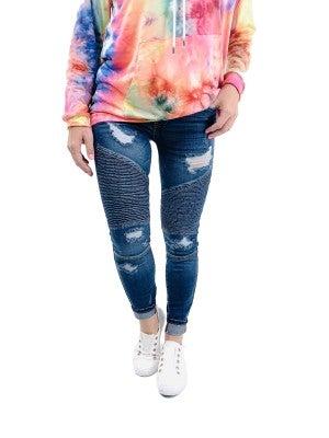 Plus/Reg Ride Sally Ride Judy Blue Moto Jeans