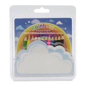 Rainbow Cloud Pad & 12 pc Color Pencil Set