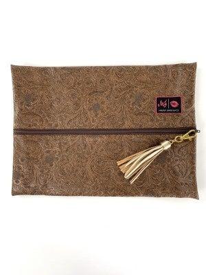 Amarillo Makeup Junkie Bag - Hazel Vegan Leather