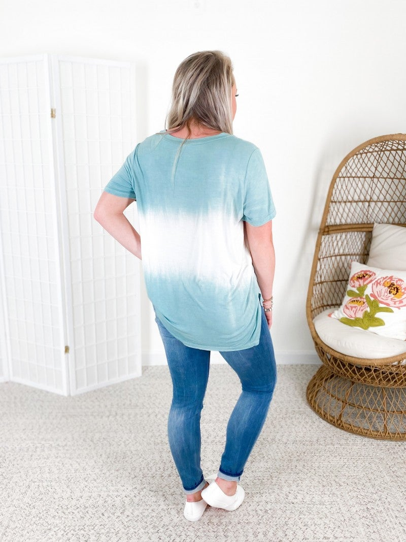POL Short Sleeve Hand Dipped Dye Top (Multiple Colors)