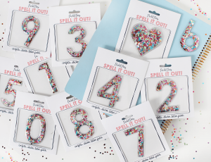RESTOCK! Stick To It Confetti (Greek letters, alphabet, numbers, hearts)