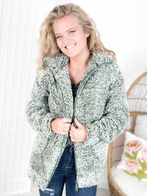Door Buster! PLUS/REG Soft Sherpa Zip Up Jacket (Multiple Colors)