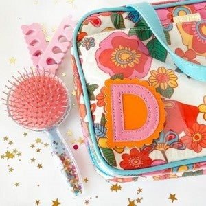 Pink  & Orange Stitched Scallop Stick On Letter (Multiple Options)