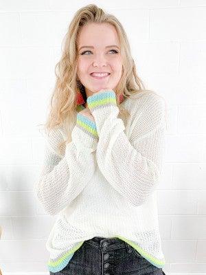 Color Mix Stripe Pullover