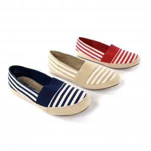Red, Natural or Navy MIA  Memory Foam Flats