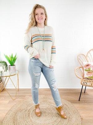 Color Stripe Sweater