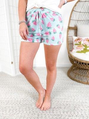 Strawberry Print Lounge Shorts