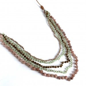 Long Multi String Necklace