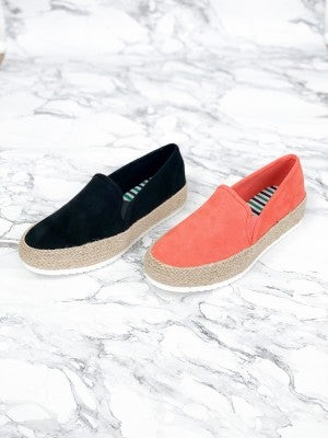 Espadrille Flat Form Slip On Sneakers (Multiple Colors)
