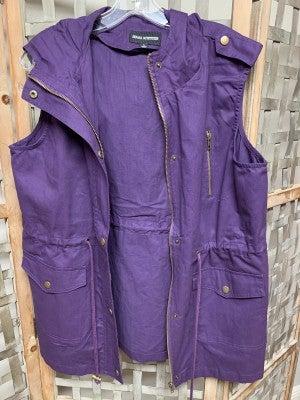 Purple Twill Vest