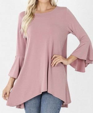 Solid Tunic w/ Bell Sleeve *Final Sale*
