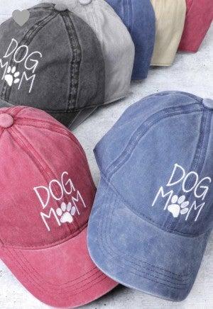 """Dog Mom"" Hat ~ Embroidered *Final Sale*"