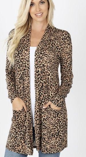 Cheetah Open Cardi