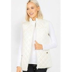 Puffer Vest ~ Ivory or Cabernet  *Final Sale*