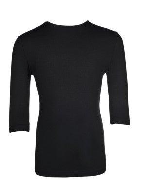 Girls 3/4 Sleeve Black Layering Top *Final Sale*