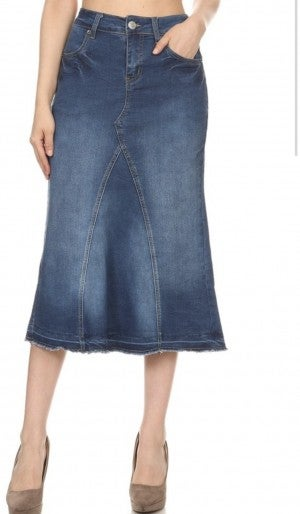 "Be-Girl Denim Skirt - 30"" Length #350"