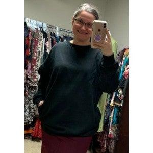 Black Oversized Sweatshirt *Final Sale*