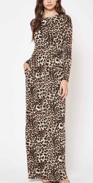 Leopard Maxi Dress *Final Sale*