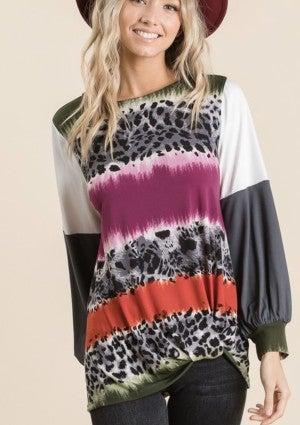 Color Block & Grey Leopard
