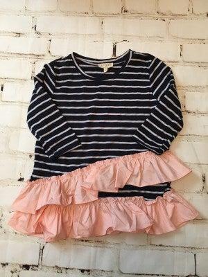 Girls Stripe/Ruffle Top *Final Sale*