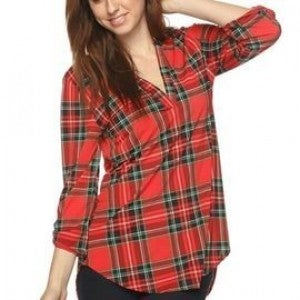 """""""Your Favorite Shirt"""" Red Plaid *Final Sale*"""