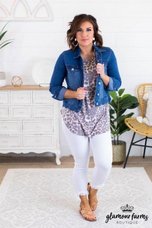 sku11980 | Scalloped Denim Jacket