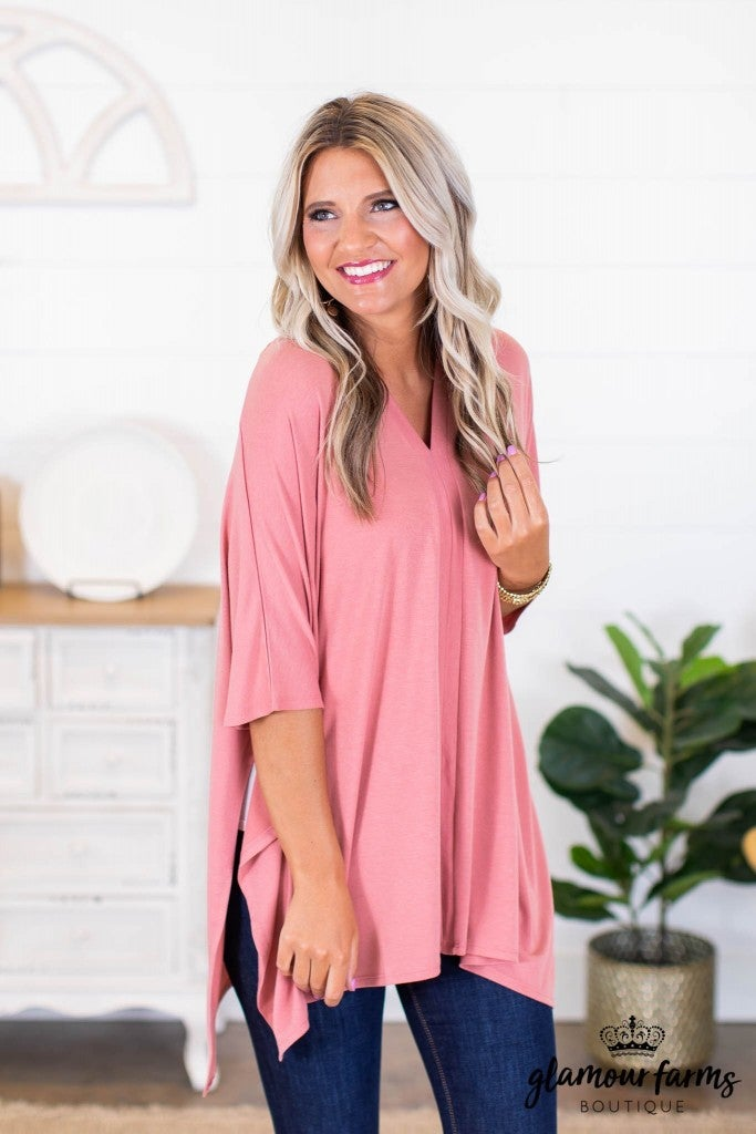 sku9002 | **Daily Deal** V-Neck Poncho Tunic