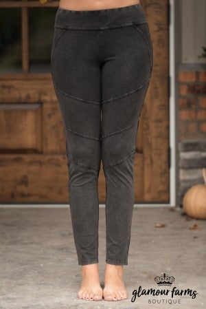 Mia Stone Washed Moto Jegging