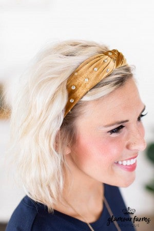sku9126 | Rhinestone And Velvet Headband