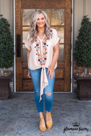 Evermore Embroidered Top
