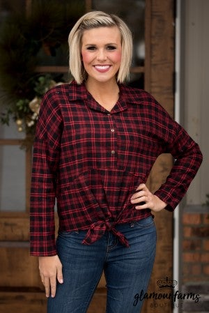 The Breckyn Plaid Top