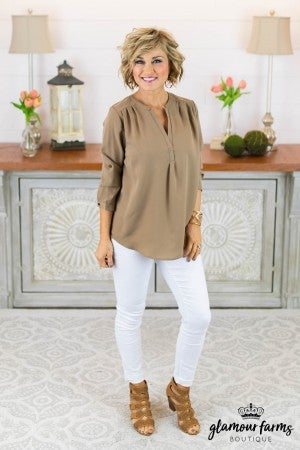 Casual Mood V-Neck Top