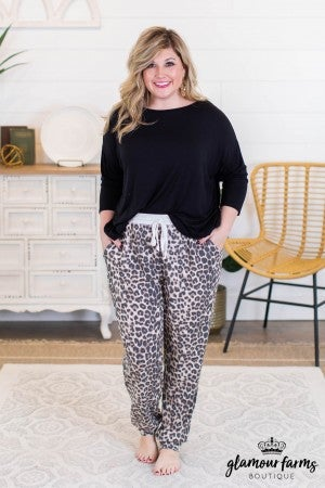 sku10472 | Animal Print Jogger Pants