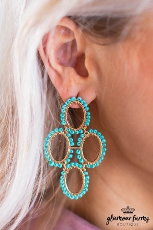 sku9746 | Beaded Dangle Earrings