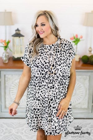 Perfect Pleat Animal Print Dress