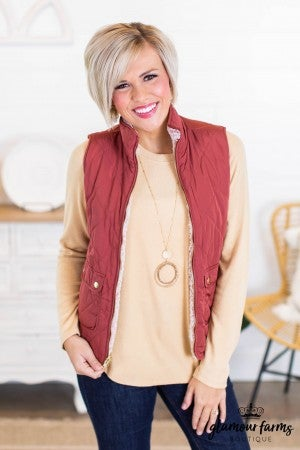 sku10816 | **DOORBUSTERS** Reversible Quilted Vest
