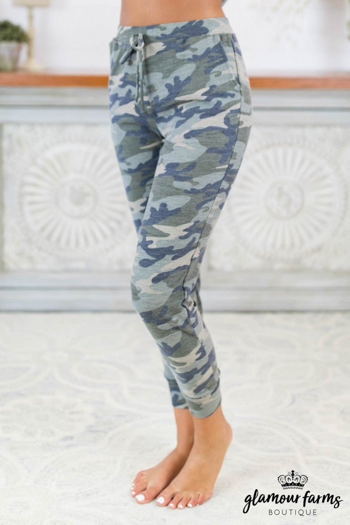 sku7846 | Glory Days Camo Joggers
