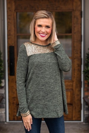 **Daily Deal** Prescott Sequin Top