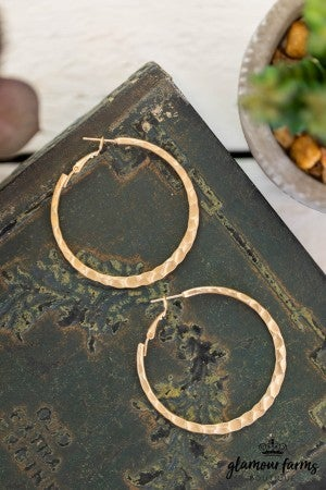sku10507 | Hammered Flat Hoops