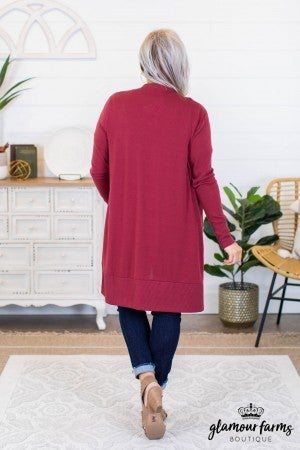 sku9511 | **Daily Deal** LS Snap Duster Cardigan