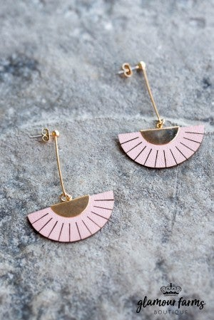 Mavin Crescent Fan Earring