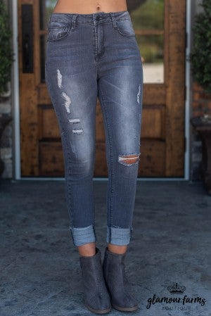 Zoey Distressed Skinny Jean