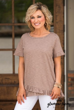 On The Move Pin Stripe Top