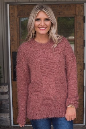 Comfort Zone Contrast Knit Sweater