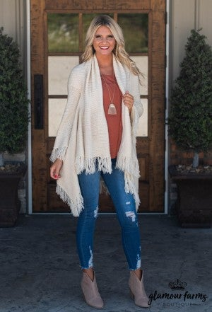 Harvest Days Fringe Cardigan