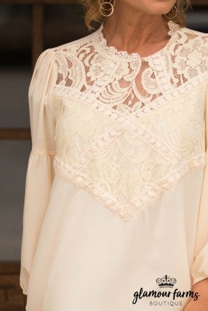 Winsome Lace Detail Top