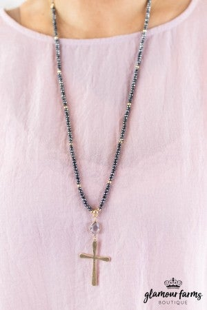 sku8166 | Cross Pendant Bead Necklace