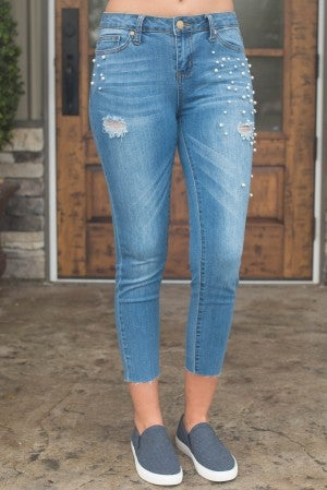 Lily's Pearl Distressed Skinny Jean