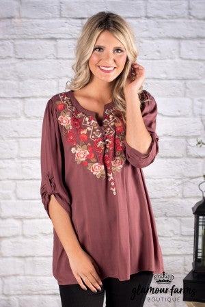Arabella Embroidered Top