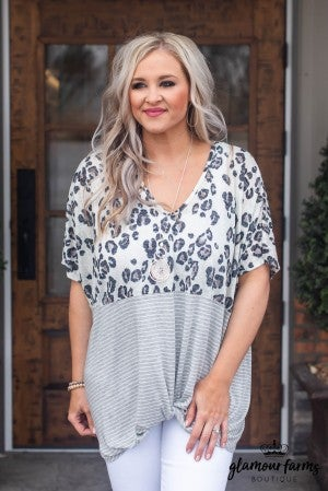 Wild Beauty Front Knot Top